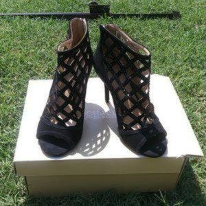 Womens Michael Kors shoes with box black suede 8 M